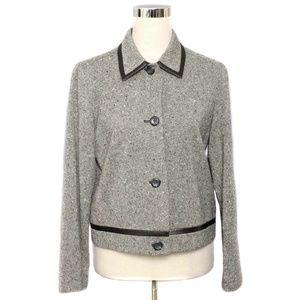 Pendleton Black & White Tweed Wool Jacket/Blazer